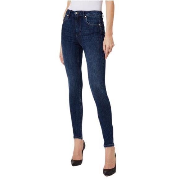 ZARA Trafaluc Washed Dark Blue Denim Skinny Jeans